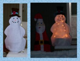 Chilly the Snowman Greeter by UrsulaPatch