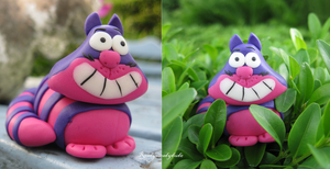 The Cheshire Cat figurine by Readysteadydude