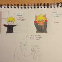 Bolt play scared for mommy Hinata by JuneDayanara23