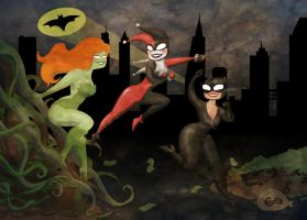 Gotham City Sirens by ADDICT-Se
