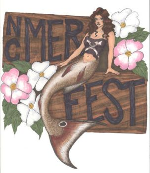 NC Merfest T-Shirt  and Poster Design by ivoryleopard