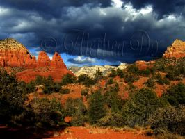Rolling clouds in Sedona by AletheaDo