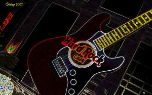 Hard rock cafe Guitar by sixt0p