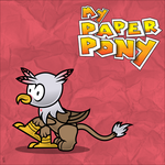 my paper pony for Photon Davidson by MLP-Scribbles