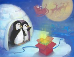 Happy holidays - penguins by lilythescorpio