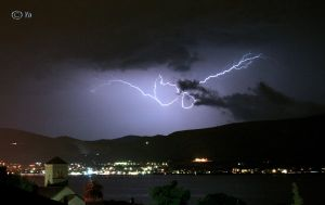 Lightstorm over Trogir by Nascituruss