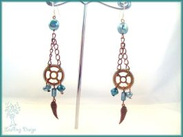 Steampirate earrings by Marjolijn-Ashara