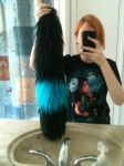 Shiny Umbreon Yarn Tail In Natural Light by GetFursonal