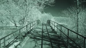 Green Ribbon Trail Bridge (IR) by RuralCrossroads360