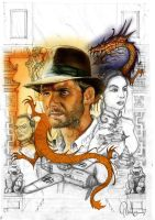 Indiana Jones Poster Evo1 by PauloDuqueFrade
