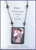 Blue Phoenix Necklace by Karadin by karadin