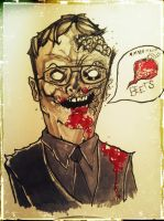 Zombie Dwight. by CodyCurtin