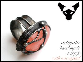 Rose Quartz Ring by Artegato