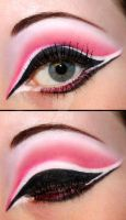 Pink and black eyeshadow by Creativemakeup