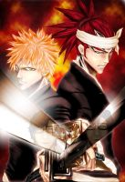 bleach - ichigo and renji by evangelion-2100