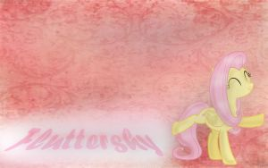 Fluttershy Wallpaper by waggytail823