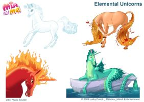 Mia and Me_Elemental Unicorns_Scuderi by Skudo