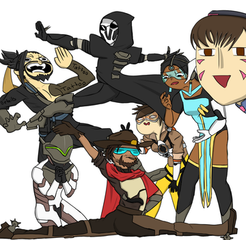 Draw The Squad Meme [Overwatch] by sonicgeek22