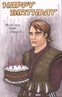 Commissioned Star Wars Birthday Card by angelacapel