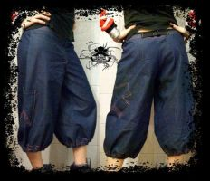crazy cross baggy pants by mamarules