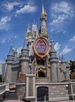 Cinderella Castle Front by WDWParksGal-Stock