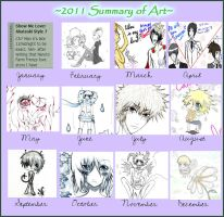 2011 Summary of Art by supergal12000
