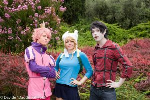 Prince Gumball, Marshall Lee And Fionna - TRIO! by DakunCosplay