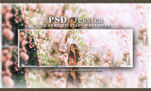 [PSD] JESSICA'S ART - HAPPY 1700+ by justblackssi