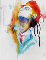 Gerard Way. watercolors by jettblackfeeling