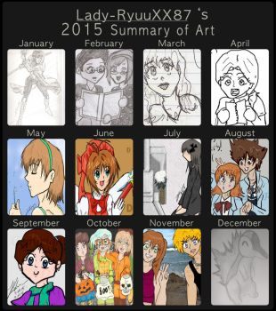 2015 - Summary of Art by Lady-RyuuXX87