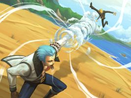 Sanji vs. Smoker by nJoo