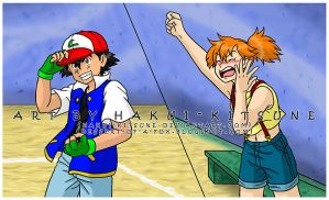 086. Misty Cheering for Ash by Hakui-Kitsune