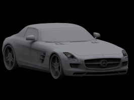 SLS AMG Clay Render Test by ArmourOne