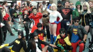 DC Superheroes at Anime Expo 2013 by trivto