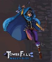 TowerFall: Blue Archer by MichellePow