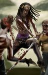 Michonne-by AJ Moore by GudFit
