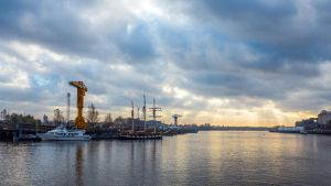 Cloudy sunset in Nantes by Pierre-Lagarde