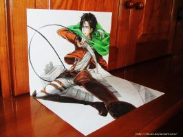 Levi Rivaille 3D by chwee