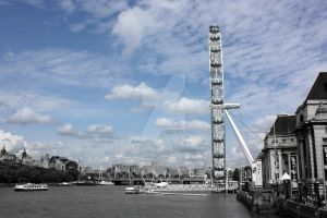 London Eye Side View by LyndaWithaWhy
