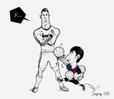 Ronaldo and Messi by songiang