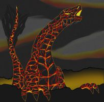lava dragon by DracoWolf0-0