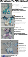 MB64's Pokemon List by MarioBlade64