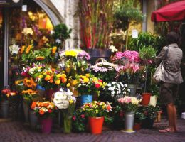 Flower shop by Blurry-Photography