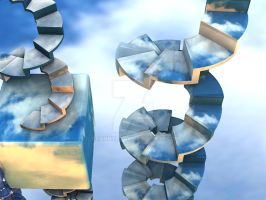 Sky Stairs by GrannyOgg