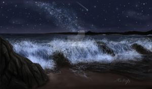 night sea by LadyKallisto