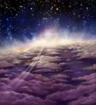 Space, stars, clouds... by Feael