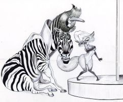 Animal Caricatures by PapaBurgundy
