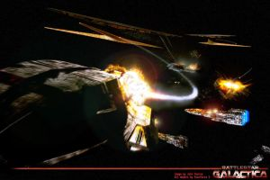 Cylon Attack by Snazz84