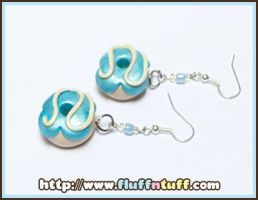 Donut earrings by Fluffntuff
