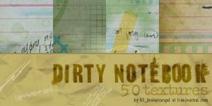 Textures - Dirty Notebook by lilbrokenangel